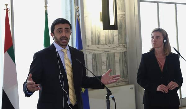 گفتگوی وزیر خارجه امارات و موگرینی درباره ایران