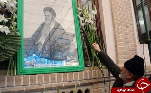 گلباران بیت امام خمینی (ره)در قم + تصاویر