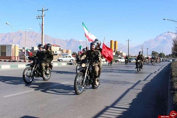 رژه موتورسواران به مناسبت آغاز ایام الله فجر