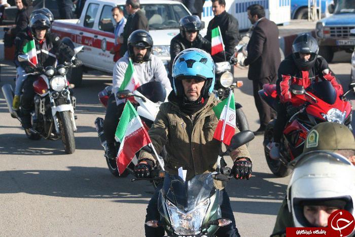 رژه موتورسواران واسب سواران در میاندوآب +تصاویر