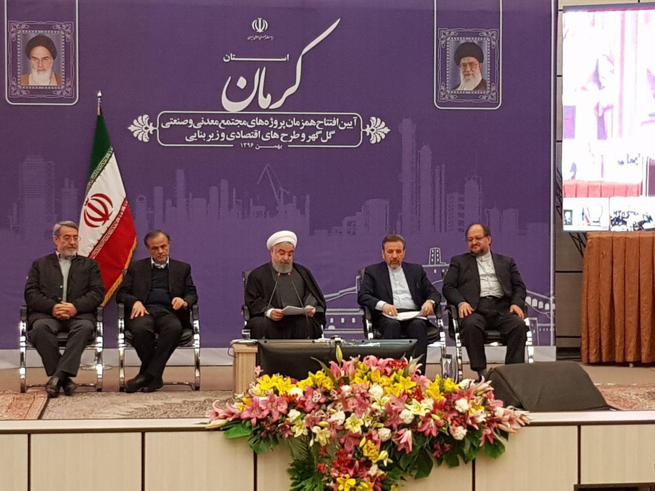 افتتاح چند طرح بزرگ صنعتی و معدنی با حضور رئیس جمهور