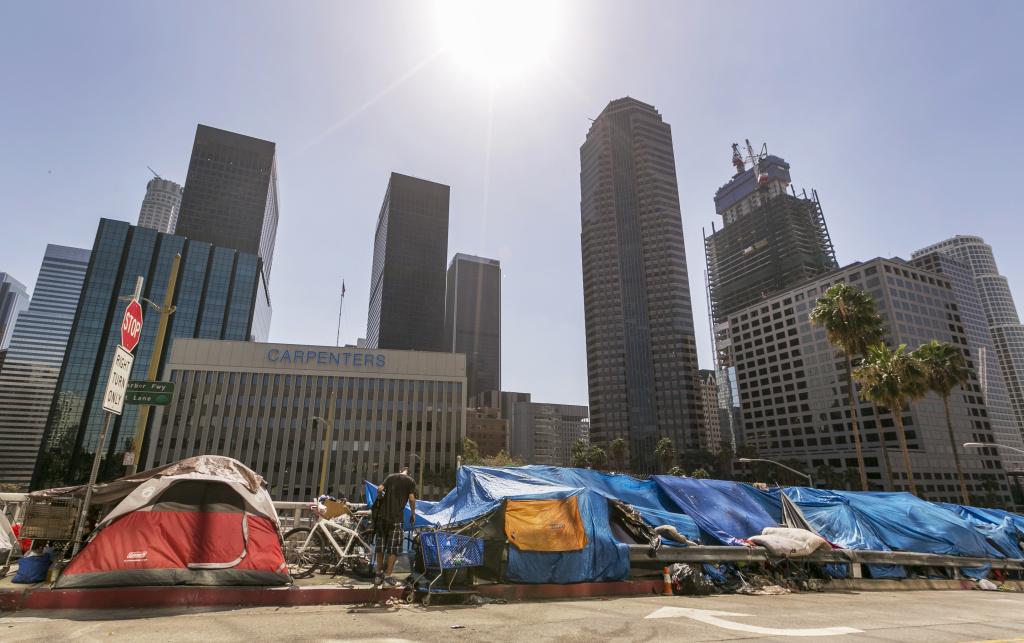 افزایش ۷۵ درصدی شمار بی خانمانها در لس آنجلس