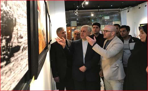 کمک مالی استاندار خراسان شمالی به نمایشگاه عکس خیریه