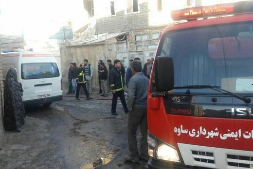 سوختگی شدید یک زوج در آتش سوزی در ساوه/علت در دست بررسی است