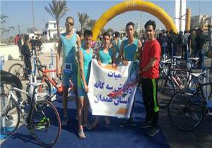 تیم ورزش سه گانه استان در مسابقات قهرمانی جوانان کشور سوم شد
