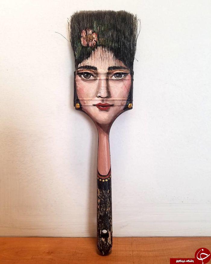 اقدام جالب یک هنرمند در تبدیل وسایل زاید به وسایلی زیبا و هنری