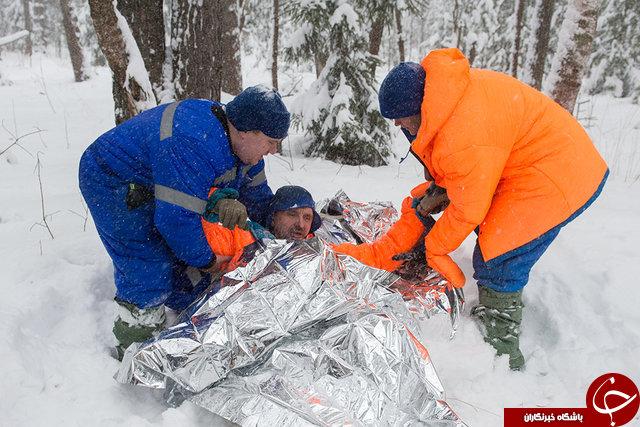امتحان فضانوردان در شرایط سخت زمستانی+تصاویر