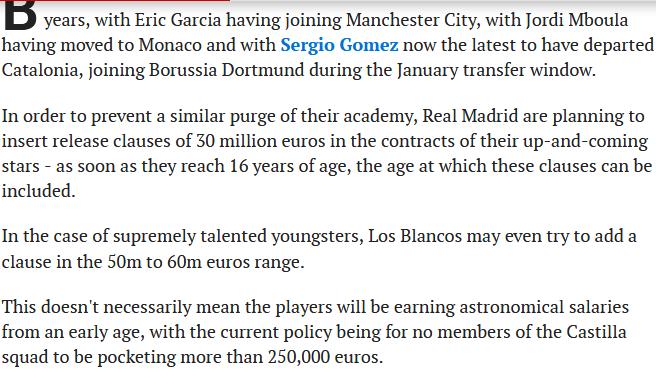 گروگیری 30 میلیون یورویی رئال مادرید از ستارگان آینده اش