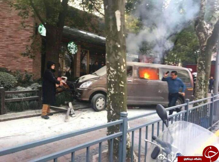 سیکار کشیدن راننده داخل ماشین حادثه آفرید! فیلم