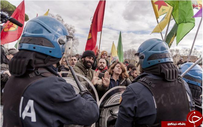 تصاویر روز: از دانشجویی که وبسایتهای آمریکا را هک کرد تا اعتراض به سفر اردوغان به رم