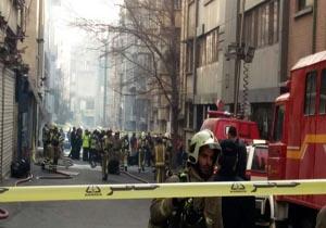 خطر ریزش ساختمان وزارت نیرو یعد از اطفای حریق وجود دارد