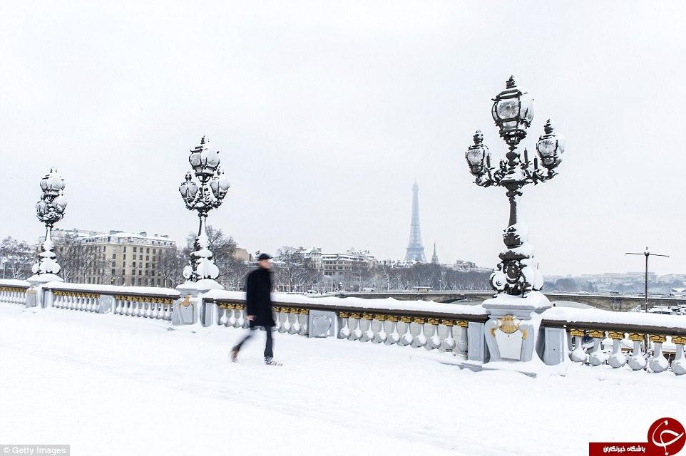 چهره  زیبای زمستانی پاریس در پوشش سفید+تصاویر