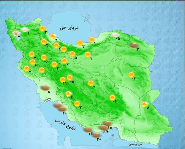 کاهش تدریجی غلظت غبار در برخی از مناطق کشور+ جدول
