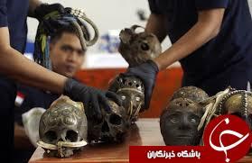 کشف یک محموله قاچاق از ۲۴ جمجمه انسان در اندونزی+ تصاویر