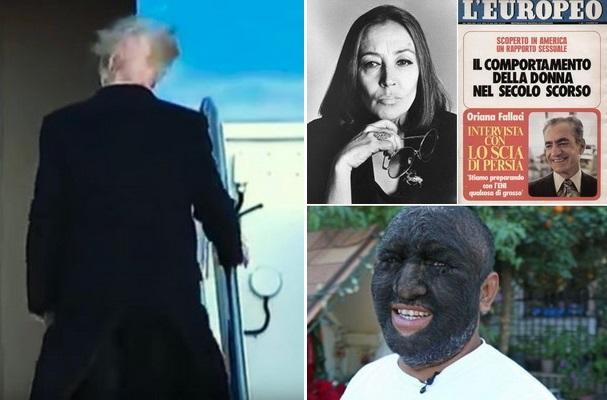 از مصاحبه خواندنی شاه با خبرنگار ایتالیایی تا لو رفتن کچلی ترامپ و مرگ غمانگیز تنهاترین پرنده جهان+تصاویر