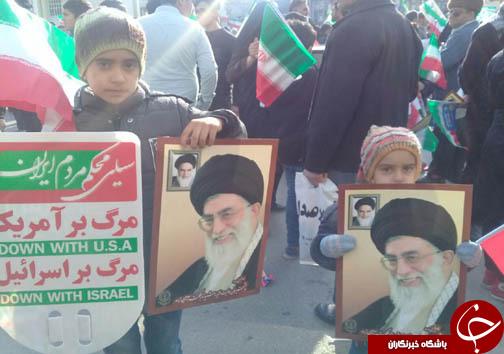 حضور پر شور دیار علویان پیش از آغاز راهپیمایی ۲۲ بهمن ۹۶+تصاویر