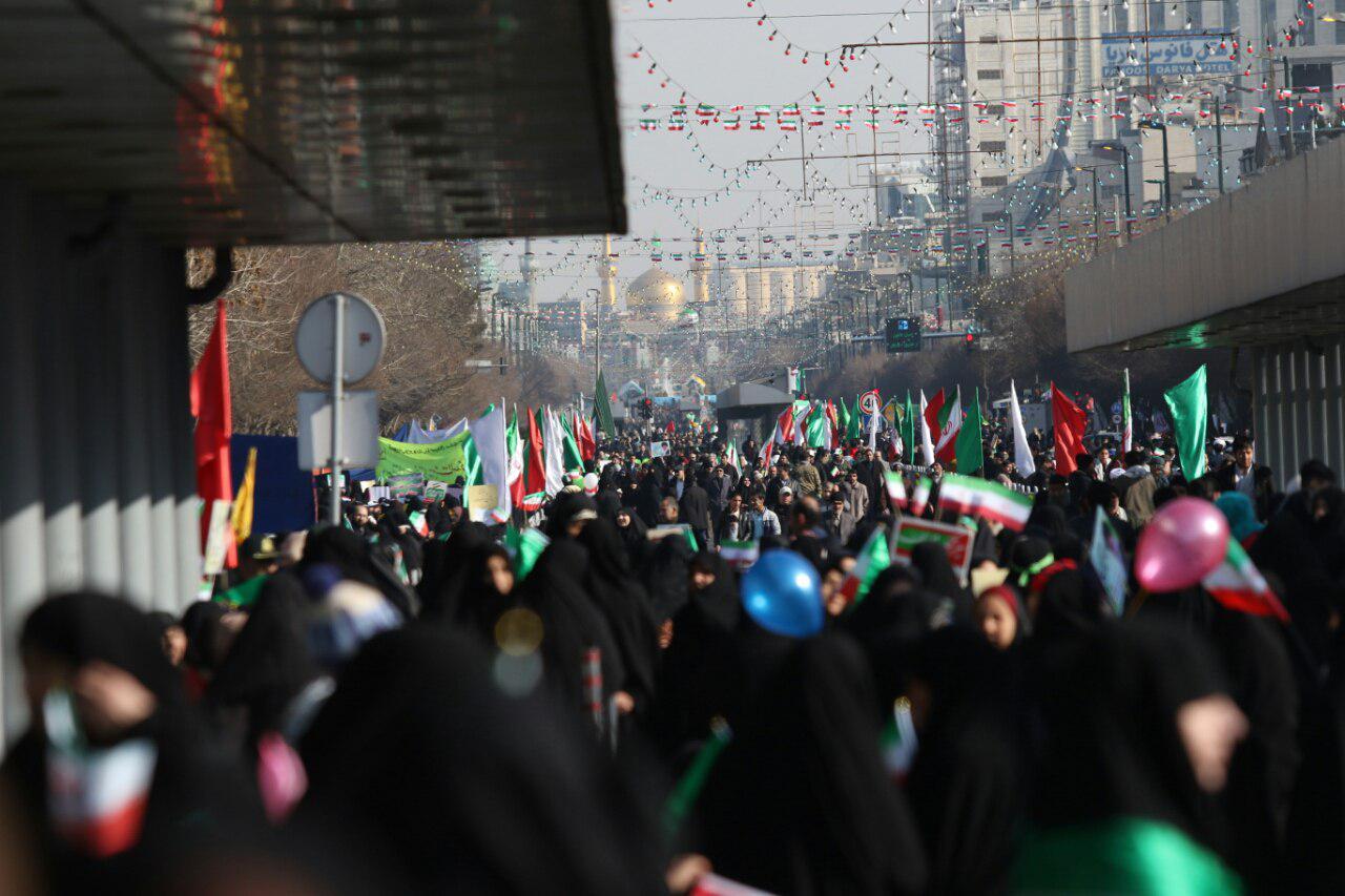 آغاز راهپیمایی یوم الله ۲۲ بهمن در مشهد
