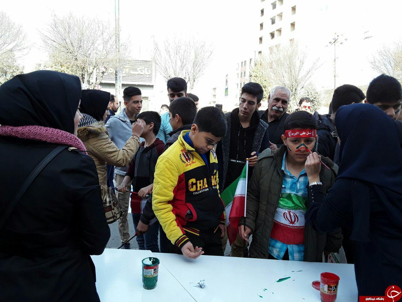 حضور عشایر کرمانشاه در راهپیمایی یوم الله 22 بهمن ماه+تصاویر