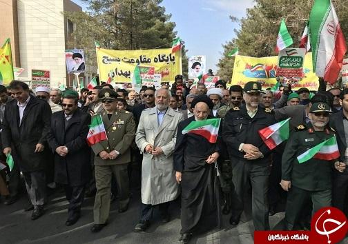 آغاز راهپیمایی 22 بهمن در خراسان جنوبی +تصاویر