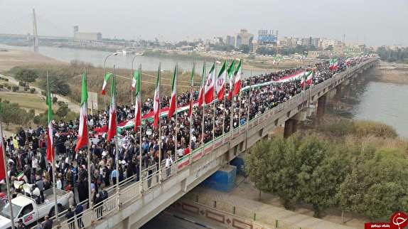 آغاز راهپیمایی ۲۲ بهمن ماه در خوزستان + تصاویر
