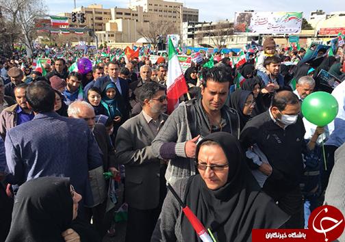 مردم فارس ایستاده و استوار آمدند + تصاویر