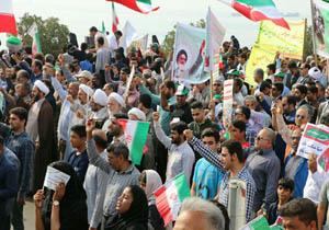 پایان راهپیمایی یوم الله 22 بهمن با قرائت قطعنامه در هرمزگان
