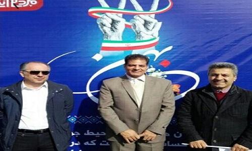 حضور پر رنگ قهرمانان و مسئولان ورزشی در راهپیمایی 22 بهمن ماه