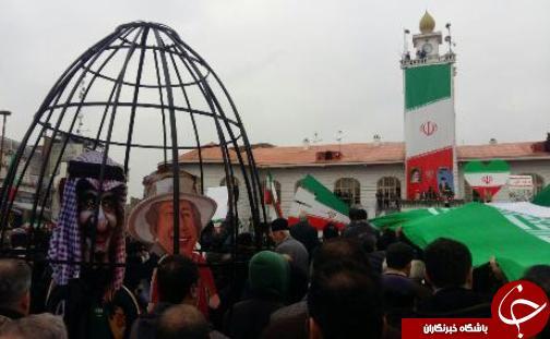 حضور تماشایی گیلانیها در جشن انقلاب