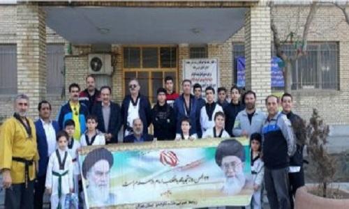 حضور پر رنگ قهرمانان و مسئولان ورزشی در راهپیمایی 22 بهمن ماه + تصاویر