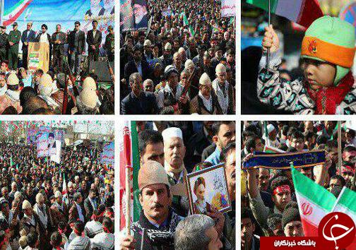 تصاویر حضور پر شور مردم لرستان / نمایشی از وحدت و همبستگی+تصاویر
