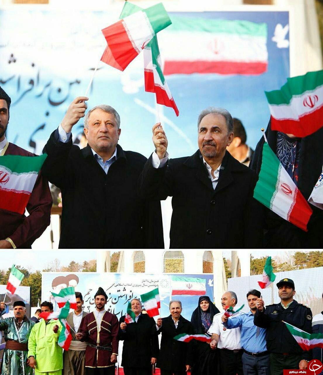 حضور مقامات کشوری و لشکری در راهپیمایی باشکوه 22 بهمن +تصاویر