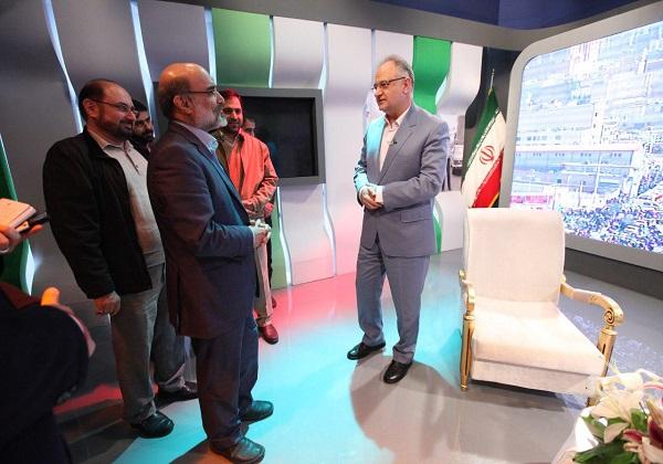 بازديد سرزده رئيس رسانه ملي از استوديوهای پخش در 22 بهمن