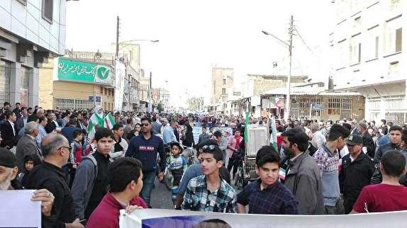 باشگاه خبرنگاران -تقدیر از حضور گسترده مردم شهرستان های آبادان و خرمشهر در راهپیمایی 22 بهمن