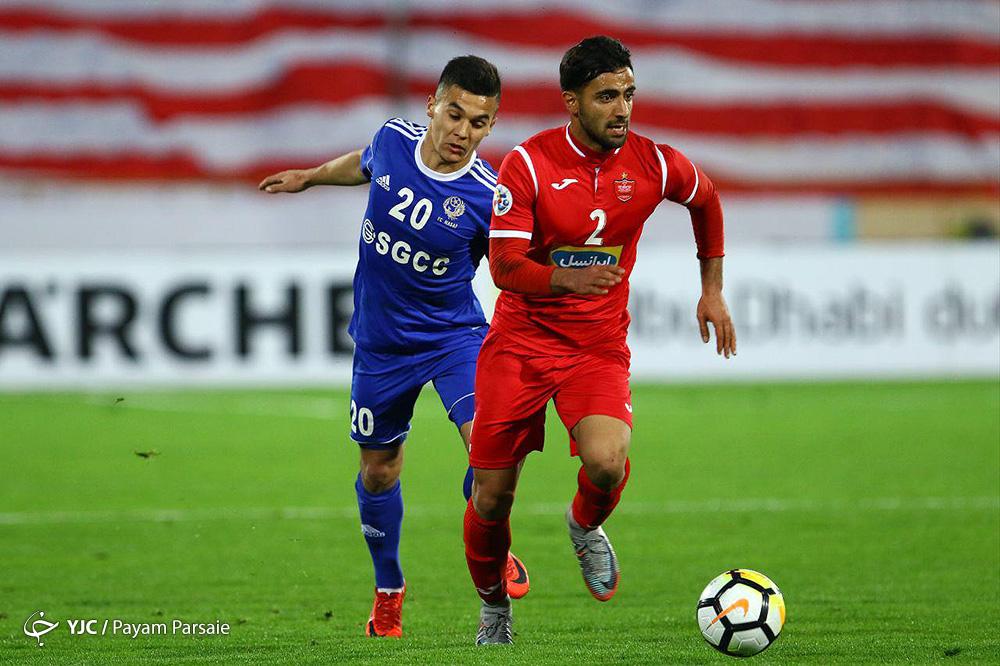 دیدار تیم های فوتبال پرسپولیس و نسف قارشی ازبکستان