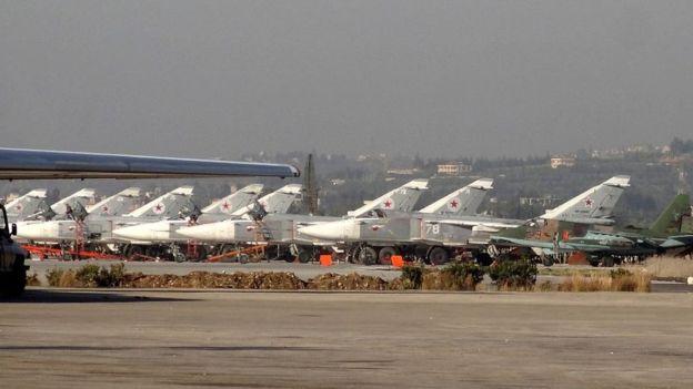 تکذیب گلولهباران پایگاه هوائی حمیمیم در سوریه توسط مسکو