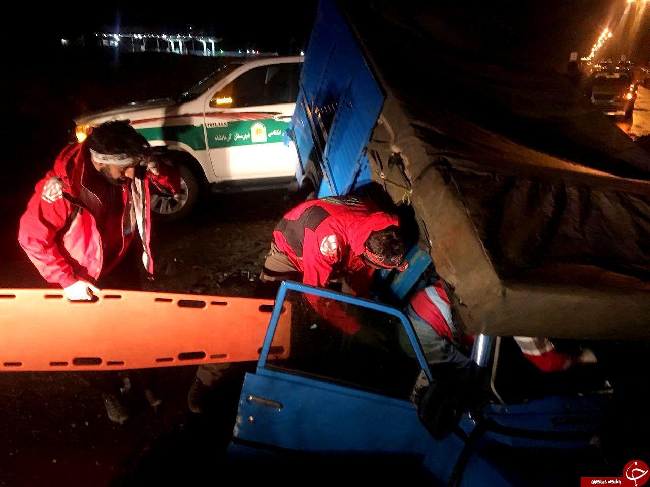 واژگونی وانت نیسان 2 کشته و مصدوم برجای گذاشت+تصویر
