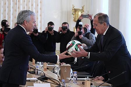پاس کاری وزیر امور خارجه روسیه با همتای بلژیکی خود