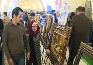 استقبال عراقیها از نمایشگاه تابلو فرش ایران در بغداد + فیلم