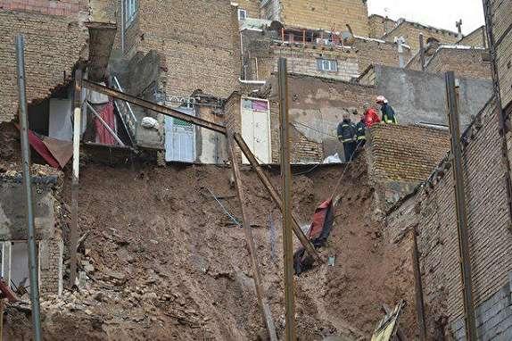 باشگاه خبرنگاران -ریزش 5 ساختمان در تبریز