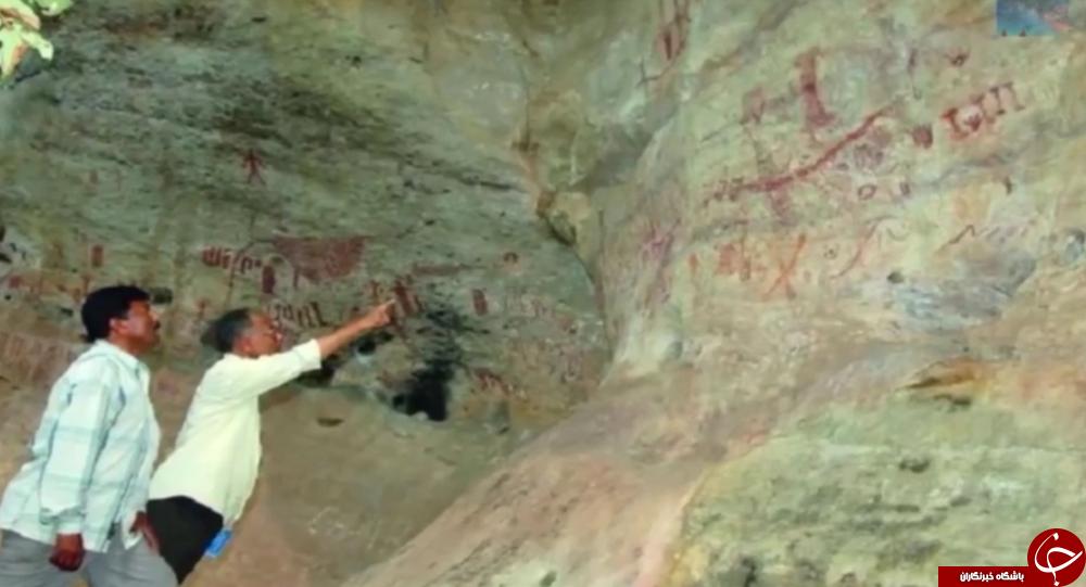 آیا این نقاشی های 10 هزار ساله مرموز را موجودات فضایی کشیده اند؟+تصاویر///در حال تکمیل