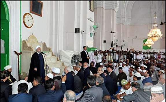 دشمنان اسلام نمیخواهند مسلمانان با هم متحد باشند/ ایران به عراق و سوریه کمک کرد تا از خشونت وخونریزی نجات پیدا کنند/ اعلام آمادگی ایران برای سهولت سفر اتباع دو کشور