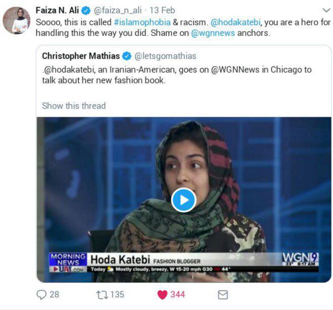 اظهارات شجاعانه دختر ایرانی در تلویزیون آمریکا درباره حجاب و اقدامات واشنگتن در خاورمیانه