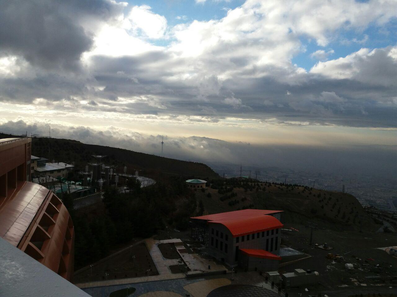 باشگاه خبرنگاران -نمایی زیبا از آسمان پایتخت + عکس