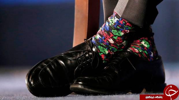 راز جورابهای رنگی نخست وزیر کانادا چیست؟+عکس