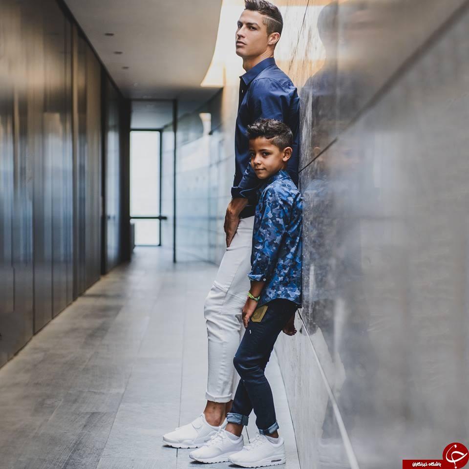 پای پسر رونالدو هم به عنوان مانکن به دنیای مُد باز شد+تصاویر
