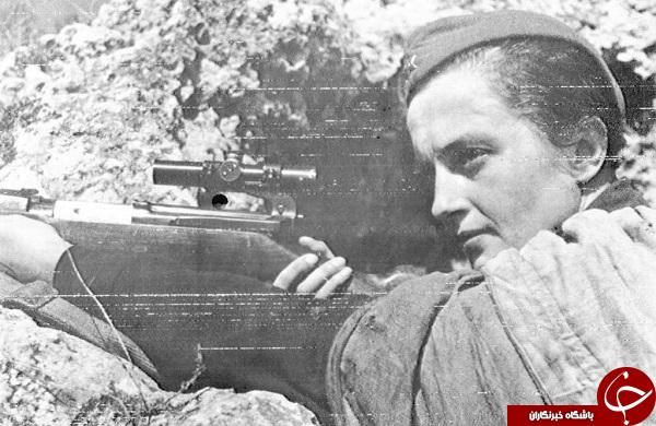 حرفهایترین تک تیرانداز تاریخ را بشناسید/ زنی که نامش لرزه بر اندام نازیها میانداخت + تصاویر