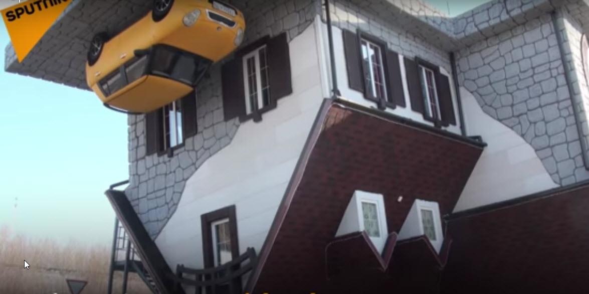 بزرگترین خانه وارونه جهان در روسیه+تصاویر و فیلم