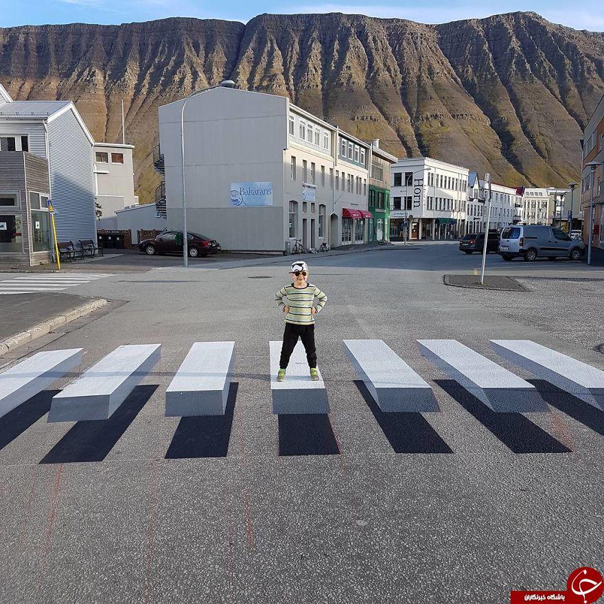 7448313 611 - خط کشی ۳ بعدی و جالب خیابان برای کم کردن سرعت ماشینها