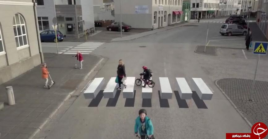 7448431 583 - خط کشی ۳ بعدی و جالب خیابان برای کم کردن سرعت ماشینها