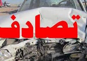 یک کشته و یک مصدوم در برخورد خودروی مینی بوس و پژو 206